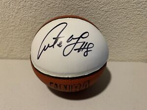 Antoine Walker Signed Mini Basketball Hardwood Authentics
