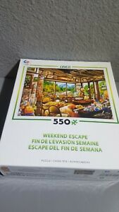 Puzzle Ceaco Weekend Escape Fishing Cabin 550 Pieces Made in USA Preowned EUC