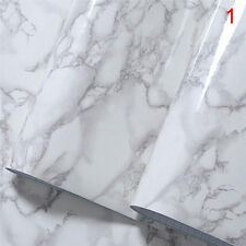 Marble Contact Paper Self Adhesive Glossy Worktop Peel Stick Wallpaper Roll RDFD 1