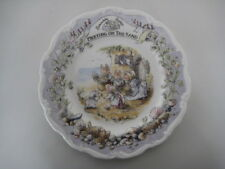 "Royal Doulton Brambly Hedge 8"" riunione sulla sabbia mare STORIA China Wall Plate"