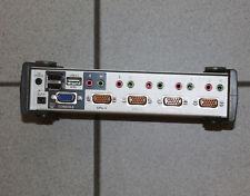 1 x ATEN CS1734B 4-Port-KVM-Switch mit einem 2-Port-USB 2.0 max. 4 PC steuerbar