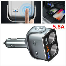 Car Charger Cigarette Lighter Double Power Adapter Socket Splitter Dual USB