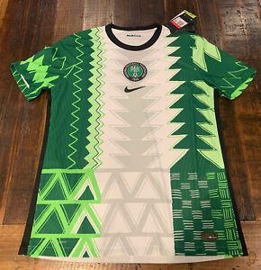 Authentic Nike NigeriaVapor soccer Men's Large L Jersey 2020 CT4219-100 $165