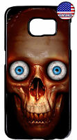Creepy Skull Face Eyes Case TPU Cover For Samsung Galaxy S10e S10 + S9 Plus S8