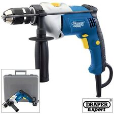 DRAPER EXPERT 710W VARIABLE SPEED ELECTRIC HAMMER ACTION POWER DRILL PLUS CASE