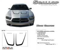 Scallop C Split Hood 3M Pro Grade Stripe Decals Graphics 2011-2014 Dodge Charger
