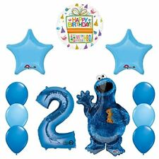 Sesame Street Cookie Monsters 2nd Birthday party supplies