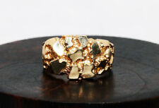 10k Yellow Gold Vintage Nugget Style Fashion Ring sz 10 8.34gtw!!