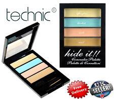 Technic Hide It! Concealer Palette Dark Circle Blemishes Nude Beige Green Yellow