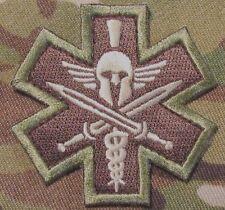 SPARTAN ARMY MEDIC EMT EMS US ARMY MILSPEC MORALE MULTICAM VELCRO® BRAND PATCH