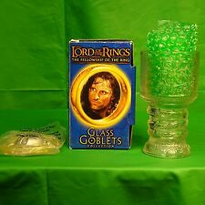 Strider the Ranger Lord of the Rings Glass Goblet from Burger King Light up Base