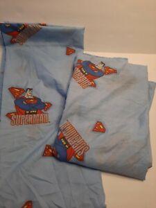 SUPERMAN 2-PIECE TWIN BED SET-SHEETS NO PILLOW CASE