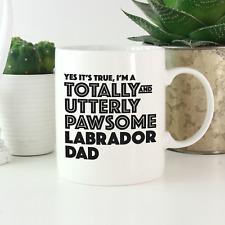 More details for labrador dad mug: funny gift yellow chocolate black labrador retriever lovers!