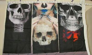 3 pc Face Mask Shield Neck Gaiter Balaclava Bandana Tube Scarf Face Skull Cover