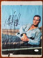 Paul Newman Jsa Coa Hand Signed 10x12 Vintage Photo Autograph