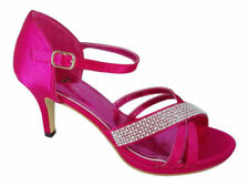 Stiletto Satin Patternless Sandals Heels for Women