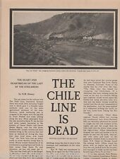 Chile Line Railroad is Dead-Denver & RioGrande,Allbee,Arnell,Carroll,Dewey,Ogle