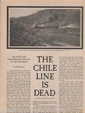 Chile Line Railroad is Dead-Denver & RioGrande,Allbee,Arnell,Carroll,Dewey,Ogle