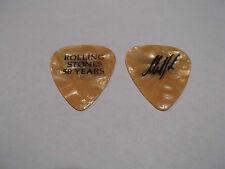 Rolling Stones 2013 Signature MIck Taylor 50 Years Guitar Pick Orange Pearloid