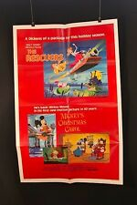 "Mickey's Xmas/Rescuers - Original theater ""one-sheet"" movie poster NSS# 830183"