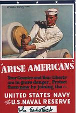 John Schotsch Signed 4x6 Photo World War 2 U.S. Navy Borneo Bay Pacific Theatre