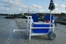 Beach Cart- Heavy Duty- PVC- With Xtra Wide Wheeleez Tires
