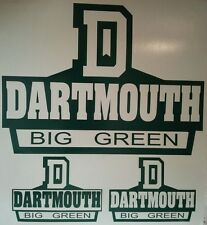 New DARTMOUTH BIG GREEN CORNHOLE DECALS - 2 CORNHOLE DECALS Vinyl Vehicle Decals