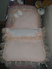 DOLLS PRAM SETS IN PEACH AND CREAM ... IDEAL FOR  SILVER CROSS COACH BUILT PRAMS