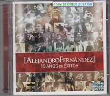 Alejandro Fernandez 15 Anos de Exitos CD+DVD New Nuevo sealed