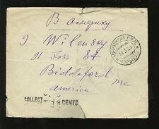 BELARUS 1929 COVER to BIDDEFORD USA...POSTAGE DUE 14c