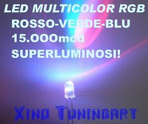 Nr 10 LED RGB VELOCI 5mm 15.000mcd MULTICOLOR TRICOLOR
