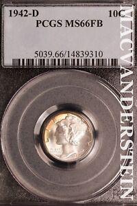 1942-D Mercury Dime-PCGS MS 66  Brilliant Uncirculated  #SLM463