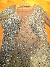 MARINA RINALDI MAX MARA  Robe longue soirée brodé paillettes perles  T 52