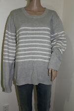 Gap Women's Long Sleeve Crew-Neck Striped Sweater 100% Cotton NWT Size XX-LARGE