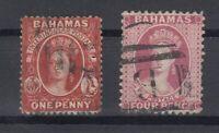 C2663/ BRITISH BAHAMAS – VICTORIA – SG # 41 / 42 USED – CV 130 $
