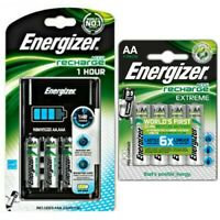 Energizer 1 Hour Charger + 8x AA 2300mAh NiMH Pre-charged Rechargeable Batteries