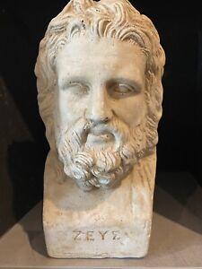Zeus Greek Statue Bust