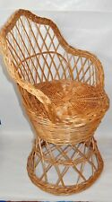 Vintage Bamboo Rataan Peacock Chair Youth Size Excellent Cond