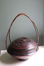Antique Chinese Wooden Wedding Basket
