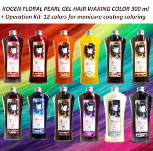 KOGEN Floral Pearl Gel hair Waxing Color 300 ml With Free DIY Operation 12 Color