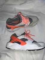Nike Air Huarache Run Pure Platinum Lava GS Running 654280-010 Girls size 5.5Y