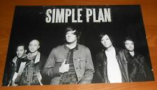 Simple Plan Poster 2-sided Original 2008 Promo 17x11