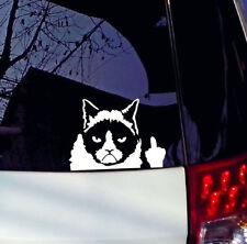 New Car Styling Grumpy Cat Vinyl Sticker Decal Rear Windshield Window Tail Decor