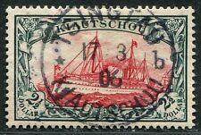 Kiautschou China 1905 Kaiseryacht 2½ $ o. Wz 27 B Gestempelt 17/3/06 Attest BPP
