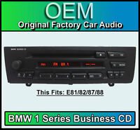 BMW 1 Series Business CD player radio, BMW E81 E82 E87 E88 car stereo headunit