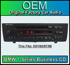 BMW Business CD player, BMW 1 Series car stereo, BMW E81 E82 E87 E88 radio unit