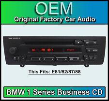 BMW Business reproductor de CD, BMW 1 auto estéreo, BMW E81 Series E82 E87 E88 unidad de radio