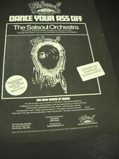 Dance Your Ass Off with The SALSOUL ORCHESTRA Dynamic 1975 PROMO POSTER AD mint