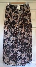 Floral Maxi Skirt, Size 14, Bnwt
