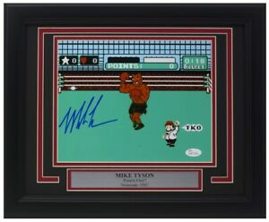 Mike Tyson Signed Framed 8x10 Punch Out Photo JSA ITP